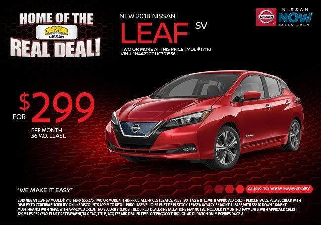 Nissan Leaf Lease >> Nissan Leaf Lease Specials Near Fort Lauderdale